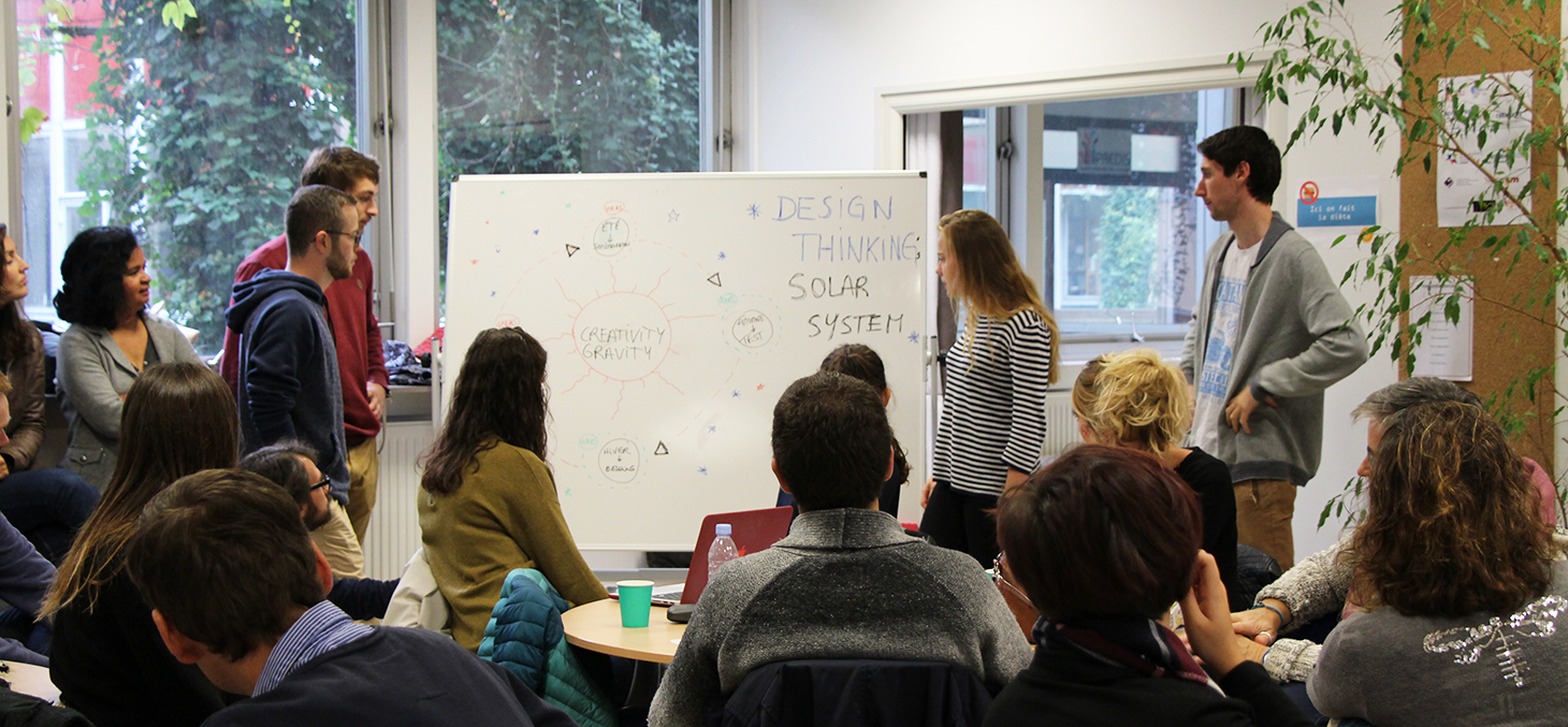 Atelier de Design Thinking avec les M2 Management de l'Innovation, septembre 2017