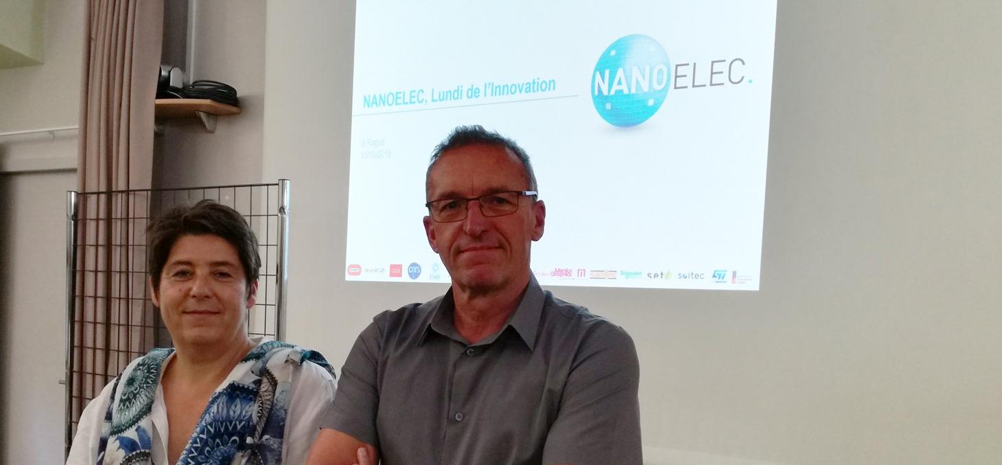 Mireille MATT, directrice de recherche à l'INRA et Bruno Ragué, directeur adjoint IRT Nanoelec