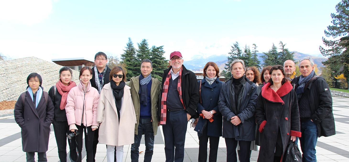 Accueille d'une délégation chinoise en  novembre 2017 par Promising