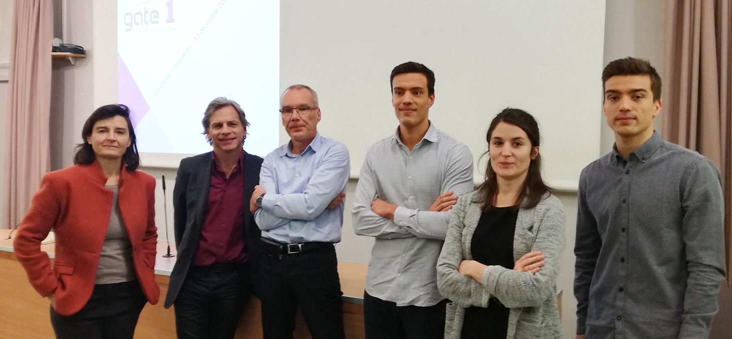 Fabienne Martin-Juchat, Thierry Ménissier, Olivier Grandamas, ses fils et Chloé Poyet