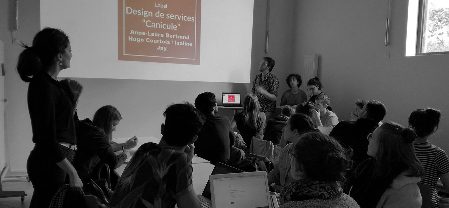 Label Design de services : Les étudiants présentent leur projet à la Turbine