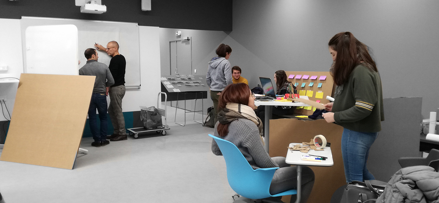 Label Design de services : les étudiants prototypent leur concept