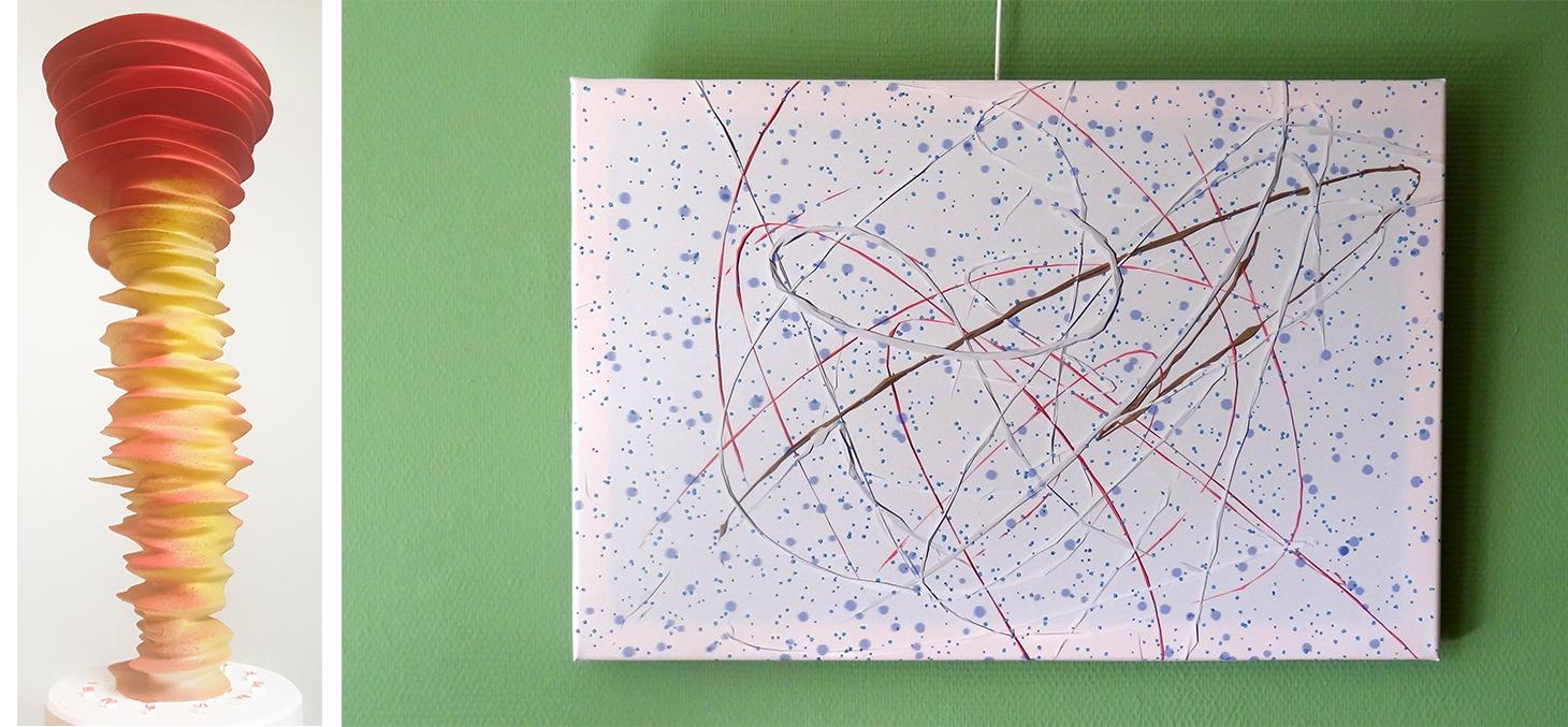 Scuplture et tableau de Jean-Pascal Martin