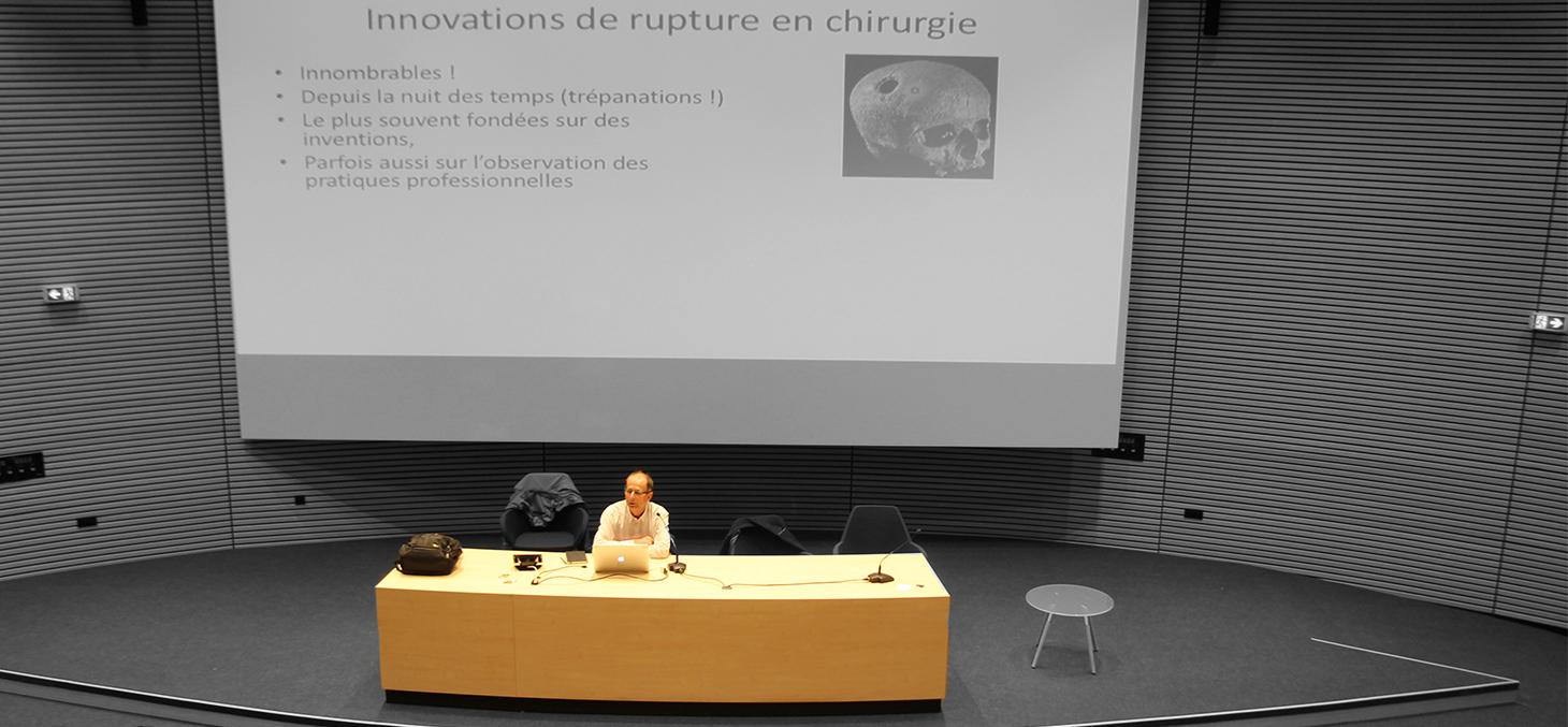 Le professeur Philippe Cinquin au Lundi de l'Innovation