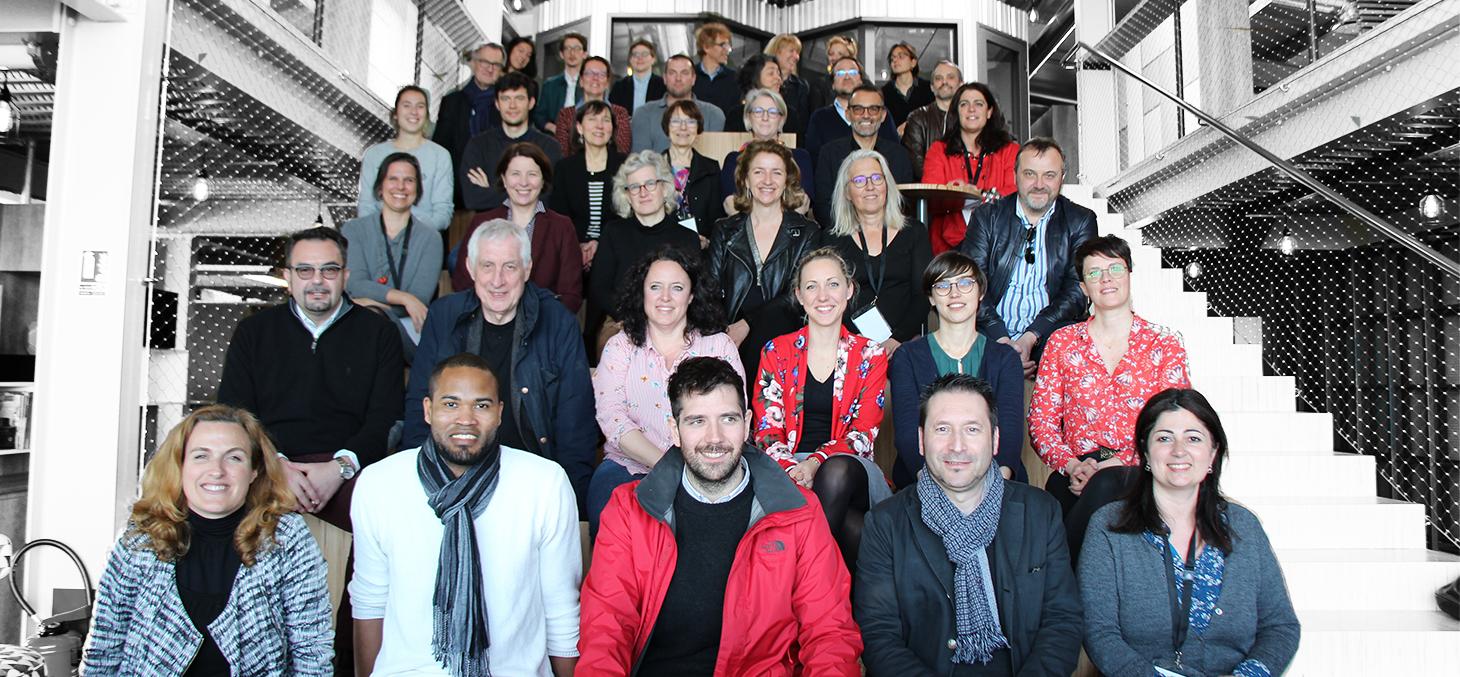 Ecole d'hiver en Management de la Créativité 2019, photo du groupe chez Korus