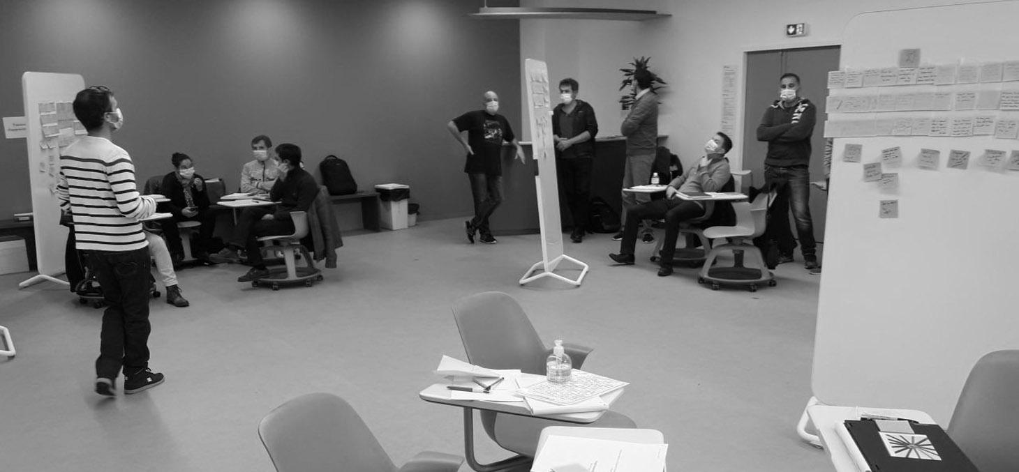 Les stagiaires en formation continue de Grenoble INP au plateau design